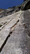 Rock Climbing Photo: Looking up at the 5th pitch (5.9 hand and finger c...