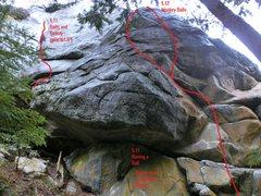 Rock Climbing Photo: Far Left end of Balls Wall