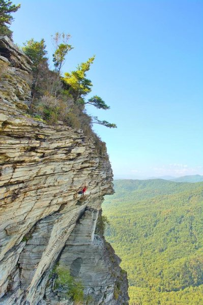 "Rock Climbing Photo: Austin Howell soloing the upper portion of ""P..."