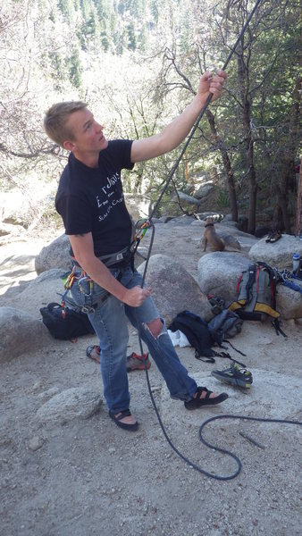 Rock Climbing Photo: Hung Over Wall, Keller Peak