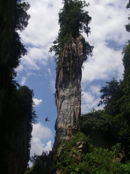 Climbing for a film shoot with a group of Korean royalty, no joke! lol<br> <br>