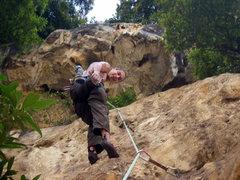 Rock Climbing Photo: Nicks first wipper, pitch three at Batu Caves.