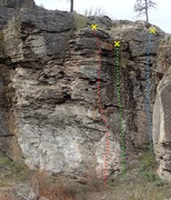 Rock Climbing Photo: Hideaway middle area topo