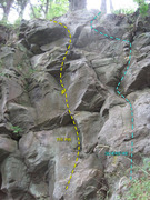 Rock Climbing Photo: Silverdike Topo