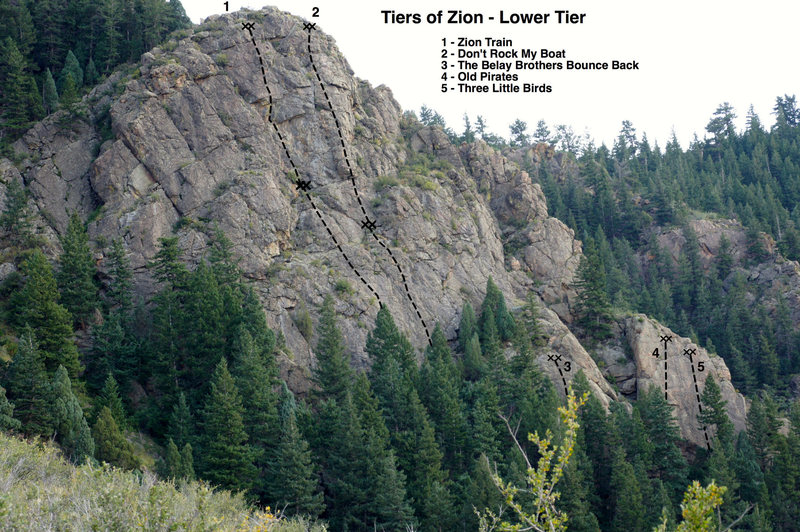 Lower Tier of the Tiers of Zion - overview photo.