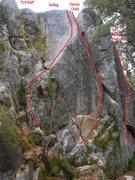 "Rock Climbing Photo: center-right ""5.9 Wall"""