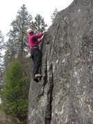Rock Climbing Photo: Fun featured bouldering between brush lake and the...