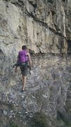 Rock Climbing Photo: Approach trail is loose and exposed at spots, so c...