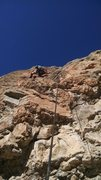 Rock Climbing Photo: Bryce halfway up the obtuse corner.