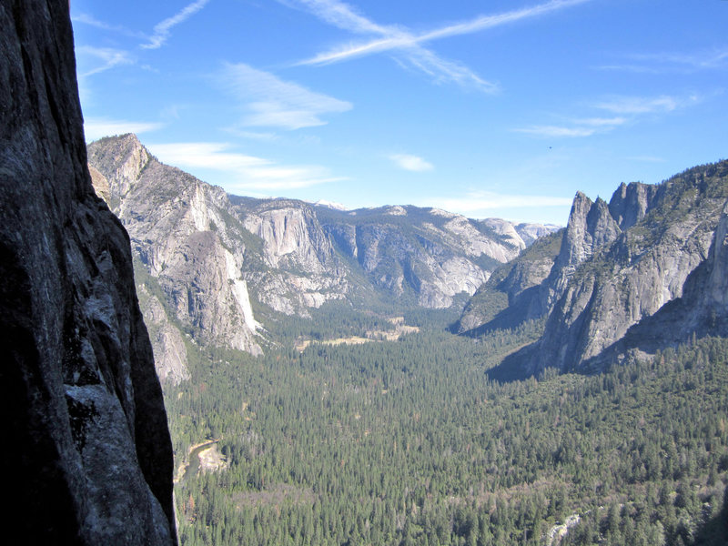 Rock Climbing Photo: View from notch