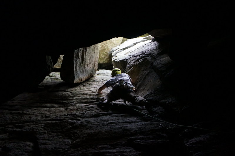 Rock Climbing Photo: Only at Farley do you get to climb out of a cave i...
