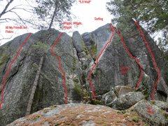"""Rock Climbing Photo: The """"5.9 Wall"""" at brush lake."""