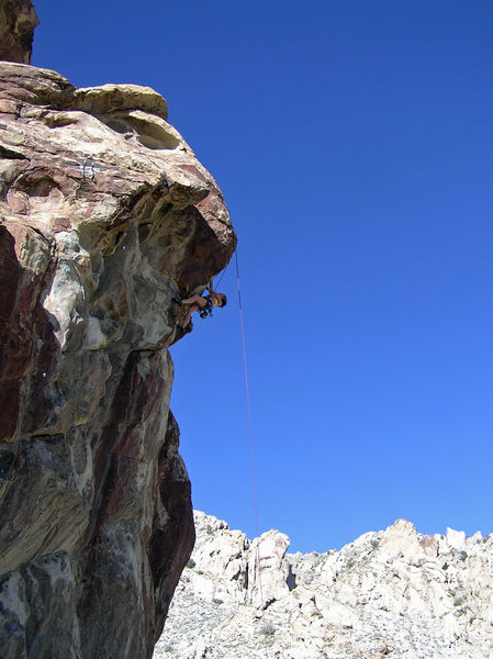 Rock Climbing Photo: Pulling the crux. Too hot to climb in the sun 3/27...