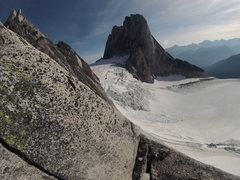 Rock Climbing Photo: View of Snowpatch Spire from the top of the first ...