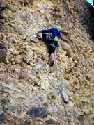 Rock Climbing Photo: Cryptic low angle slab adds some character to Silt...