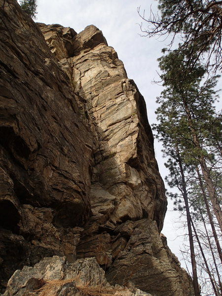 """The main corner and THE arete - at the north end of the """"South Wall"""""""