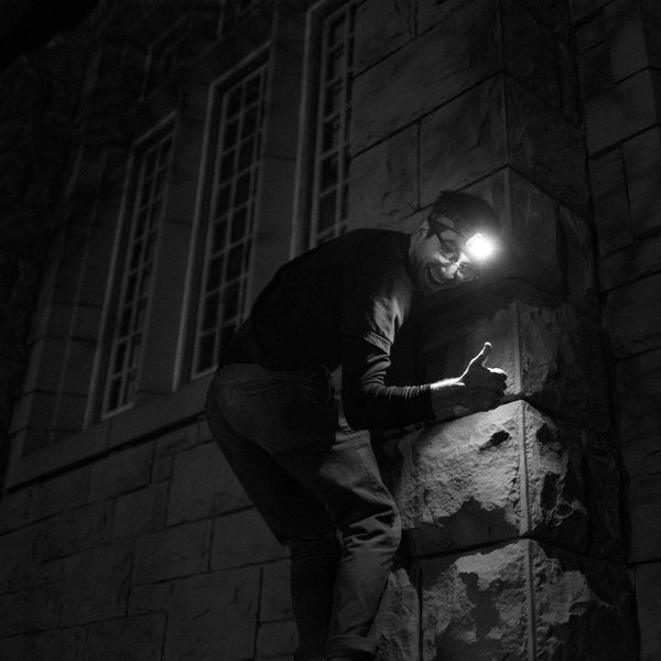 Night Building Climbing
