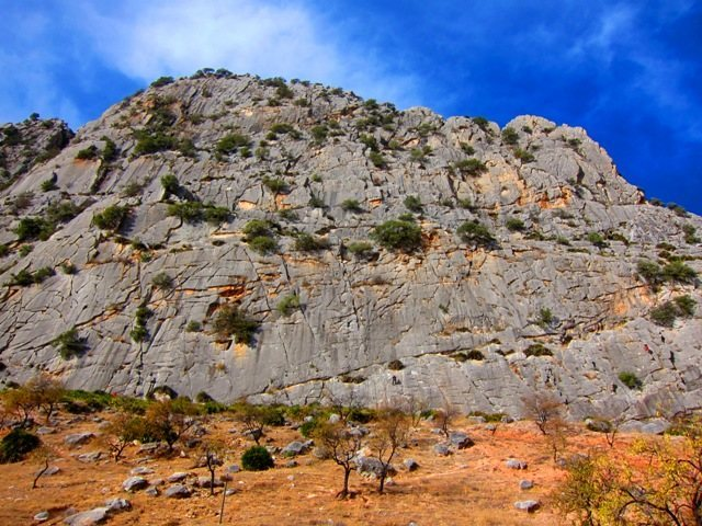 The main crag of Valle de Abdalajis