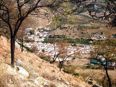 Rock Climbing Photo: Town from the crag - Valle de Abdalajis