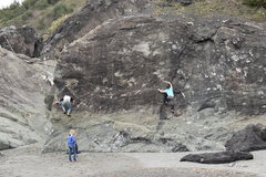 Rock Climbing Photo: Mikey and Drew tag-teaming a boulder on the north ...