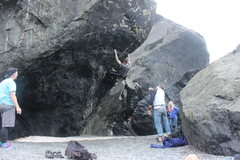 Rock Climbing Photo: Me on the hardest problem we tried that day. No to...