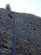 Rock Climbing Photo: The upper slab portion.
