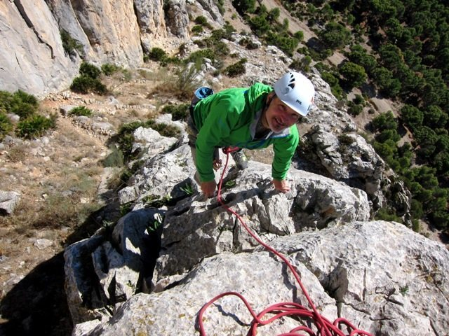 Pete's all smiles topping out El Pilarito