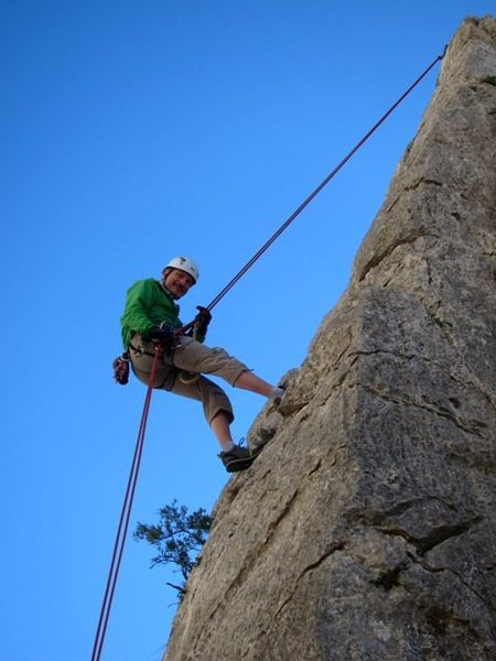 Rock Climbing Photo: Rappelling off el Pilarito