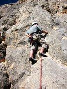 Rock Climbing Photo: Starting up El Beso de la Flaca