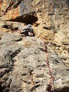 Rock Climbing Photo: Just below the anchor on Lucky no com pan