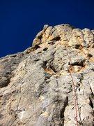 Rock Climbing Photo: Lucky no com pan on the right and El Beso de la Fl...