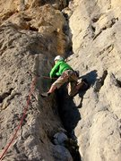 Rock Climbing Photo: Starting El canalillo de la mari