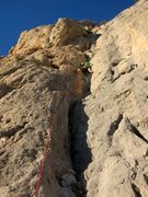 Rock Climbing Photo: Pete's in the thick of El canalillo de la mari