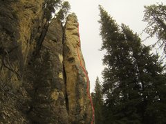 """Rock Climbing Photo: Another topo for """"If We All Had a Bong Weed A..."""