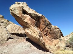 Rock Climbing Photo: The view of After Burner Boulder as you approach i...