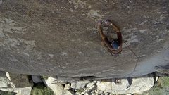 Rock Climbing Photo: The final moves to the belay
