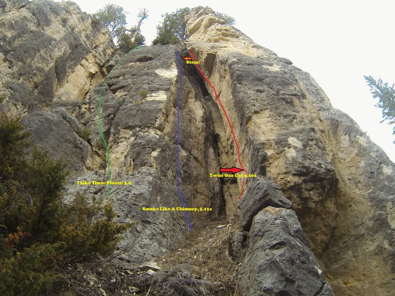 Three decent climbs for those looking for the beginner's intermediate challenge.