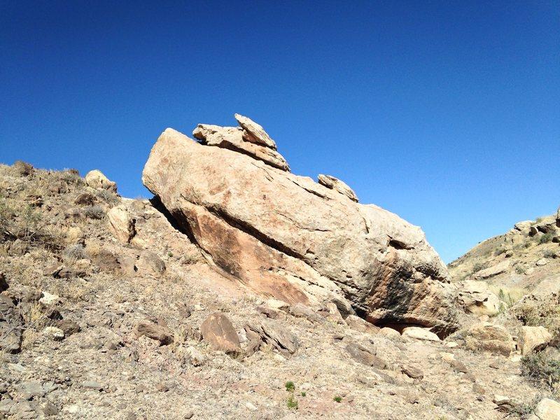 Rock Climbing Photo: Back side of Lizard Block.