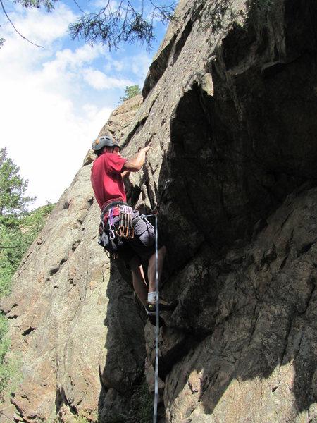 Rock Climbing Photo: Adam, 7/13/2013.