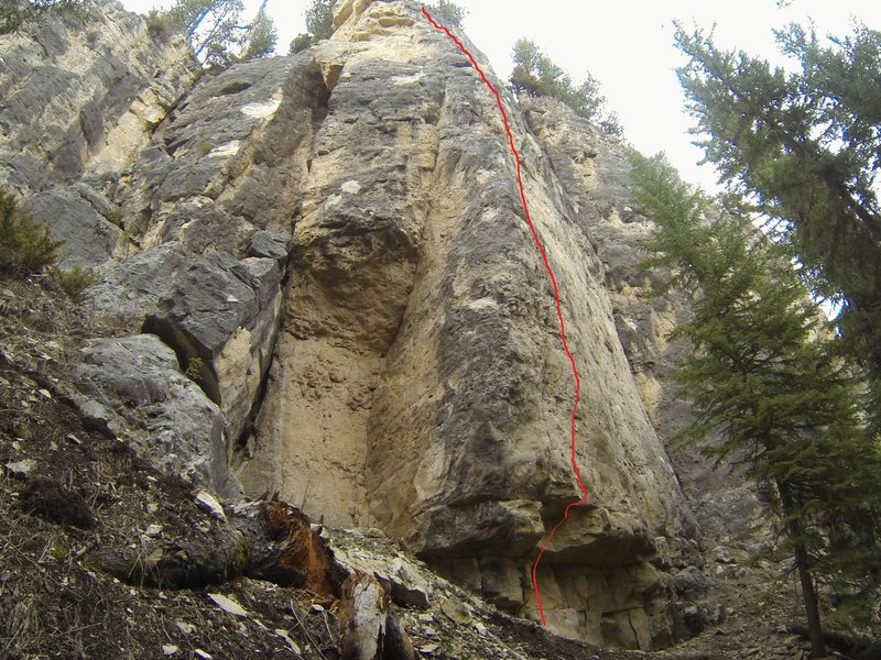 Rock Climbing Photo: Crux at the start. Hard slab to the top.