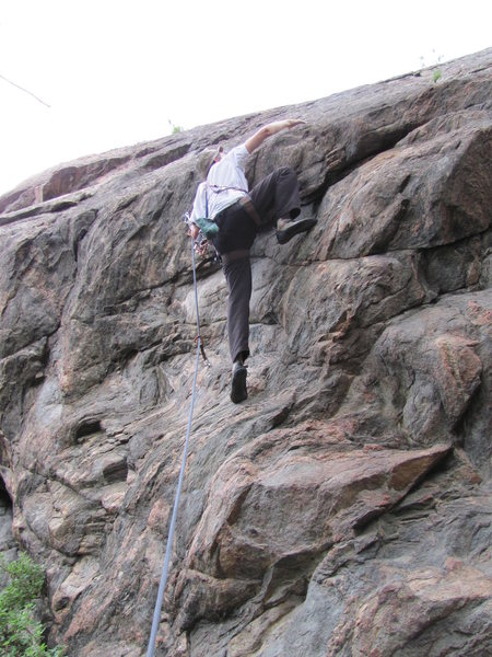 Rock Climbing Photo: Chuck, 7/13/2013.