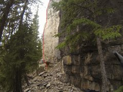 "Rock Climbing Photo: Another topo for ""A Little Kush For the Final..."
