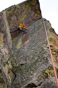 Rock Climbing Photo: Jon Glassberg working the moves on toprope shortly...