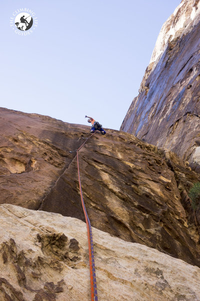 Polly on the first pitch lead