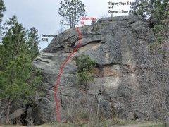 Rock Climbing Photo: left side of riverside rocks at laclede