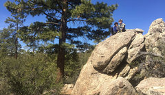 Rock Climbing Photo: Bryn and Stephen Owen on top of Route 1.