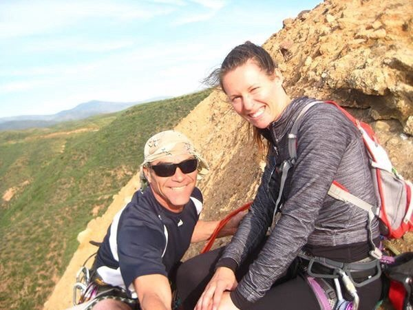 Rock Climbing Photo: Chad Parker and Natalie Strasser on the summit of ...