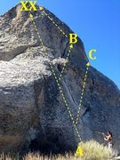 Rock Climbing Photo: A) Conceptual Reality 5.9 B) Biliary Tree 5.8 C) R...