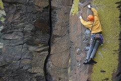Rock Climbing Photo: Sanjay rocking a balancey section