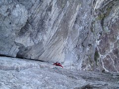 Rock Climbing Photo: Following the second pitch of Corrugation Corner a...